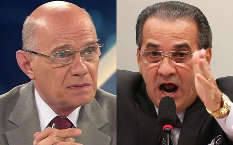 Ricardo Boechat e Silas Malafaia (Foto: Reprodução)