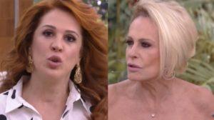 Ana Maria Braga e Claudia Raia na Globo (Foto: Reprodução)