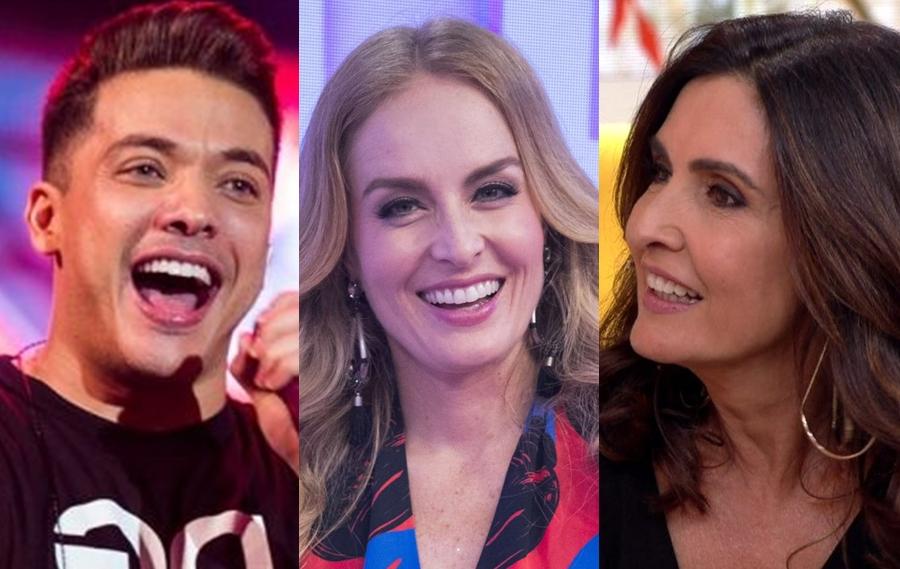 Wesley Safadão, Angélica e Fátima Bernardes (Foto: Reprodução)
