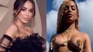 Anitta antes do clipe e depois do clipe (Foto: Reprodução)