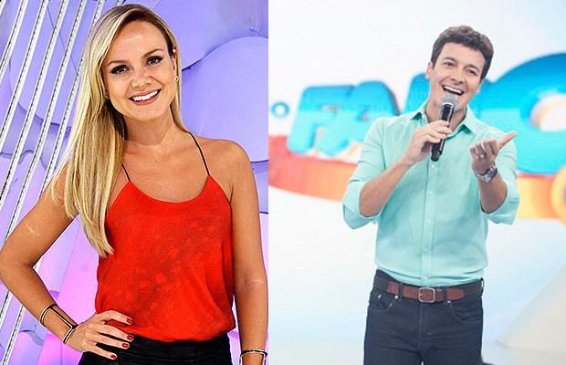 Eliana e Rodrigo Faro são concorrentes na TV (Foto: Divulgação)