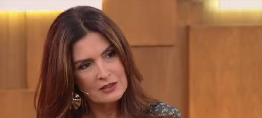 Fátima Bernardes no comando do programa Encontro, exibido pela TV Globo. (Foto: Reprodução)