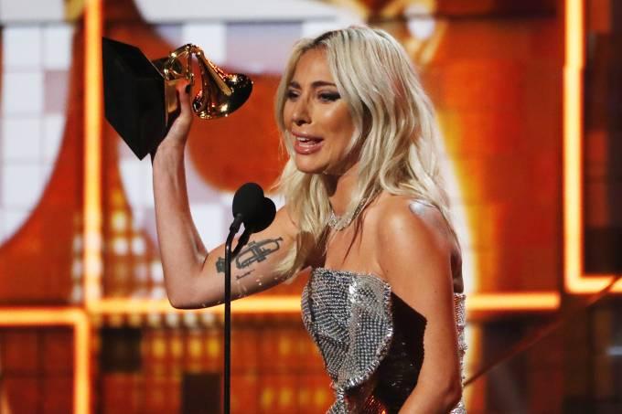 Lady Gaga no Grammy (Foto: Divulgação)