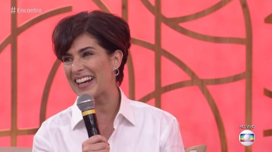 Fernanda Paes Leme foi vítima de uma piada feita por Fábio Porchat (Foto: Reprodução/TV Globo)