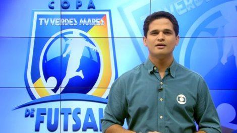 O apresentador do Globo Esporte no Ceará, Kaio Cézar, pediu demissão ao vivo (Foto: Reprodução)