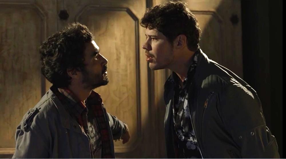 Geandro e Júnior em O Sétimo Guardião (Foto: Reprodução)