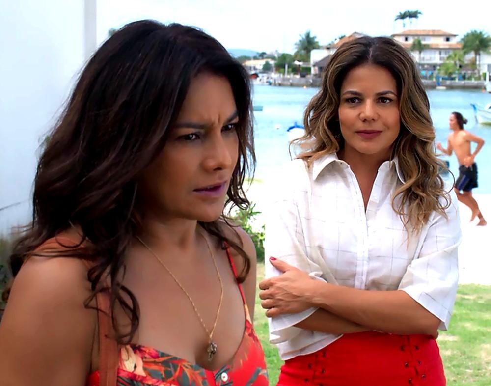 """Janaína descobre """"fuga"""" de Herculano (Foto: Reprodução/Globo)"""
