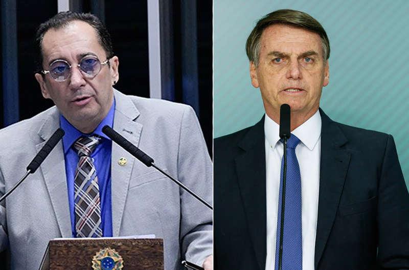 Jorge Kajuru e Jair Bolsonaro (Foto: Reprodução)