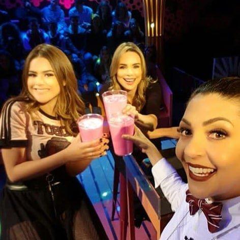Rachel Sheherazade foi a primeira convidada de Maisa (Foto: Reprodução)