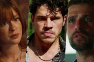 Marina Ruy Barbosa, José Loreto e Bruno Gagliasso se estranham em O Sétimo Guardião