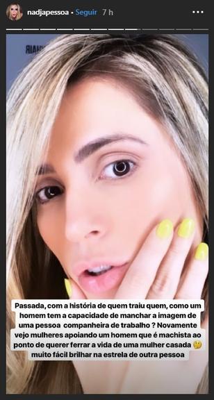 Nadja defende Marina Ruy Barbosa