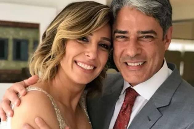 William Bonner e Natasha Dantas (Foto Divulgação)