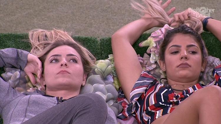 Hariany e Paula no BBB19 (Foto: GloboPlay)
