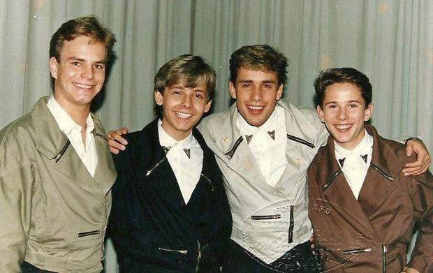 Alan Frank, Alex Gill, Ricardo Costa e Rafael Ilha integraram o grupo Polegar no fim dos anos 80 (Foto: Divulgação)