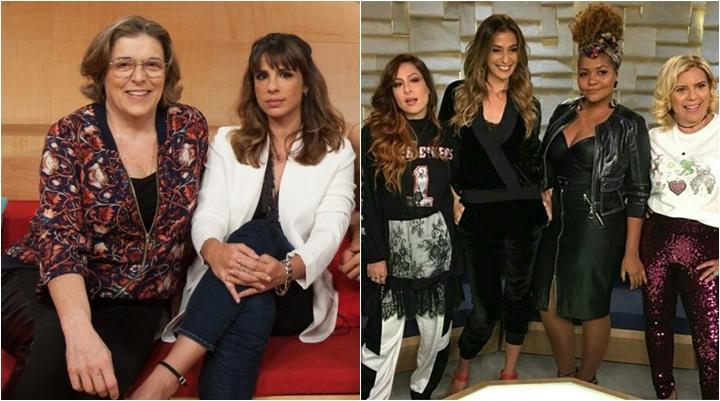 Maria Ribeiro e Bárbara Gancia curtem comentário de internauta que critica atual formação do Saia Justa. (Foto: Montagem/Reprodução)
