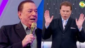 Raul Gil e Silvio Santos apresentadores do SBT