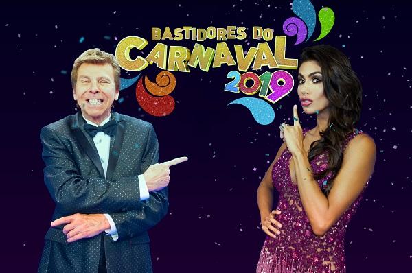 """Nelson Rubens e Flávia Noronha comandam o """"Bastidores do Carnaval"""" (Foto: Divulgação/RedeTV!)"""