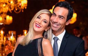 A apresentadora do Hoje em Dia da Record, Ticiane Pinheiro e César Tralli, da Globo são casados e pais da bebê Manuella (Foto: Divulgação)