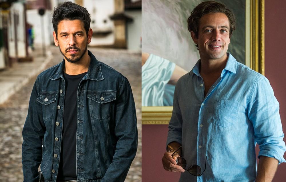 Alain e Danilo em Espelho da Vida (Foto: Divulgação/TV Globo/Montagem)