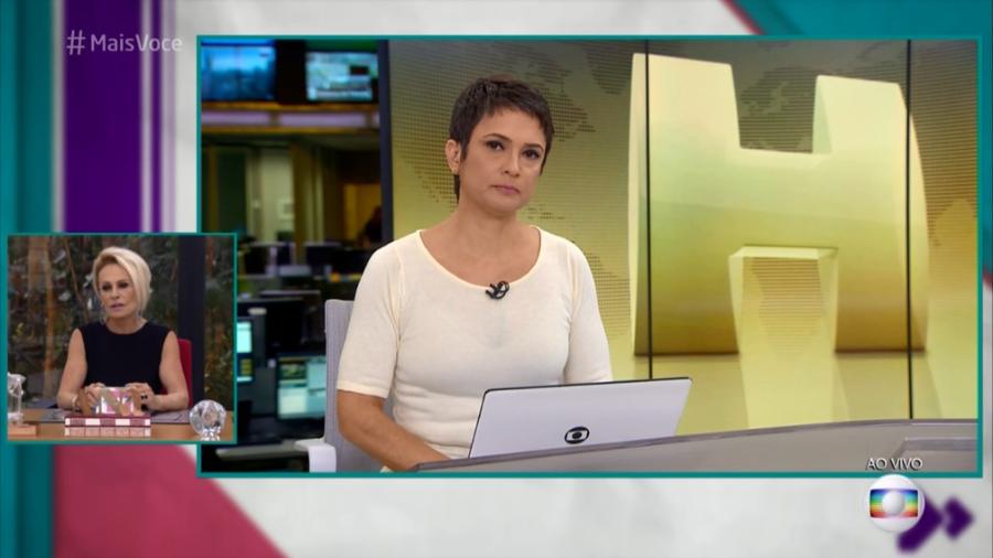 Sandra Annenberg fala sobre noticiar a morte de Boechat Imagem: Reprodução/TV Globo