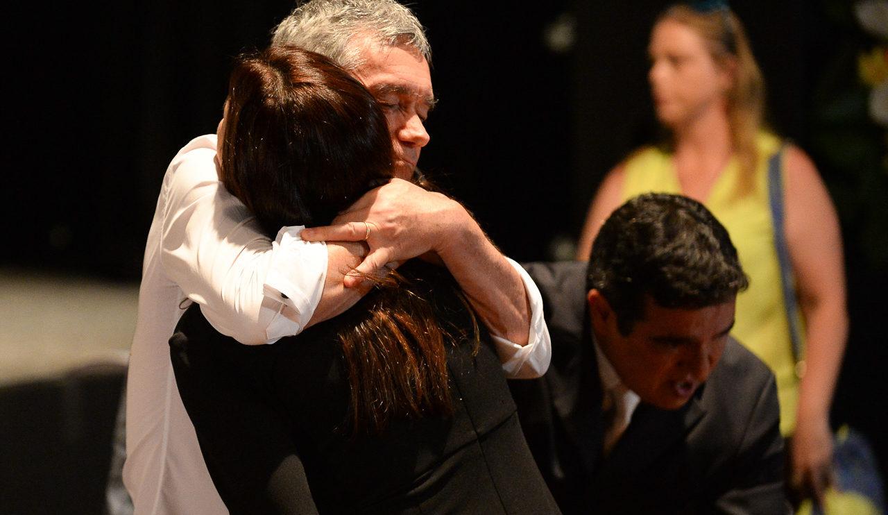 Serginho Groisman, Ana Paula Padrão, Veruska Boechat no velório de Ricardo Boechat (Fotos: Francisco Cepeda/AgNews)