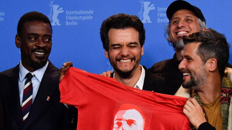 """Seu Jorge, Wagner Moura e Bruno Gagliasso promovem """"Marighella"""" no Festival de Berlim (Foto: Reprodução)"""
