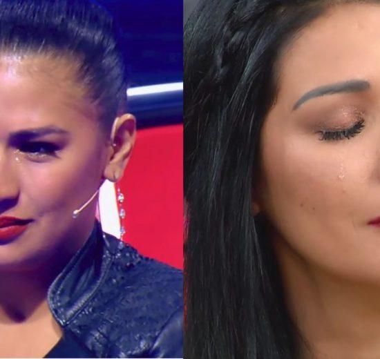 Simone e Simaria foram as lágrimas no palco do Domingão do Faustão (Foto: TV Globo)