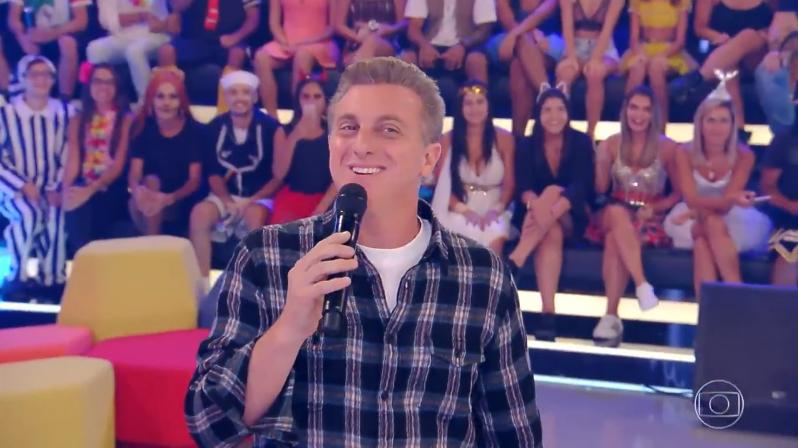 O apresentador Luciano Huck no Caldeirão (Foto: Reprodução/Globo)