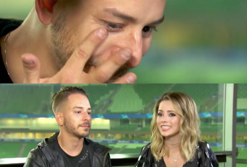 Sandy e Junior se emocionaram no Fantástico da Globo (Foto reprodução)