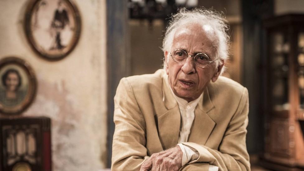 Flávio Migliaccio em novela da Globo (Foto: Reprodução)