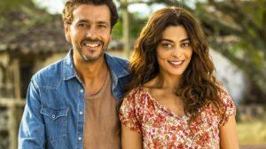 Amadeu (Marcos Palmeira) e Maria da Paz (Juliana Paes) em A Dona do Pedaço (Foto: Globo/João Miguel Júnior)