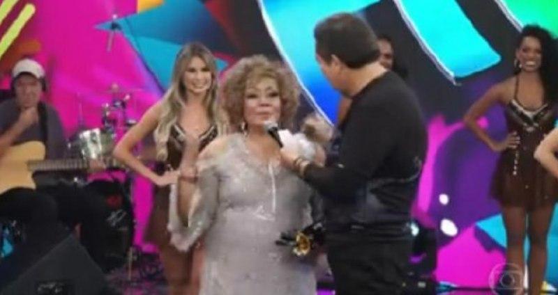 Alcione deu o que falar no Domingão do Faustão (Foto: TV Globo)