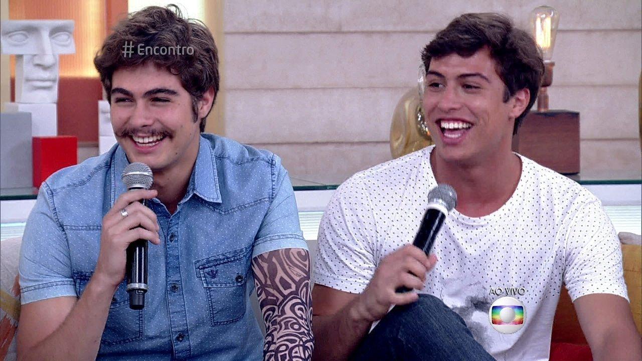 Rafael Vitti e Francisco Vitti durante programa da Globo (Foto: Reprodução)
