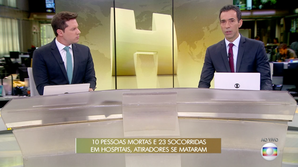 Em Cobertura De Tragédia Em Suzano, Globo Apresenta Jornal
