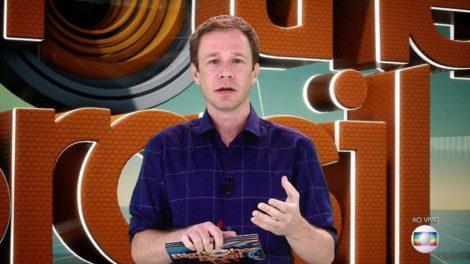 O apresentador Tiago Leifert no BBB19 (Foto: Reprodução/Globo)