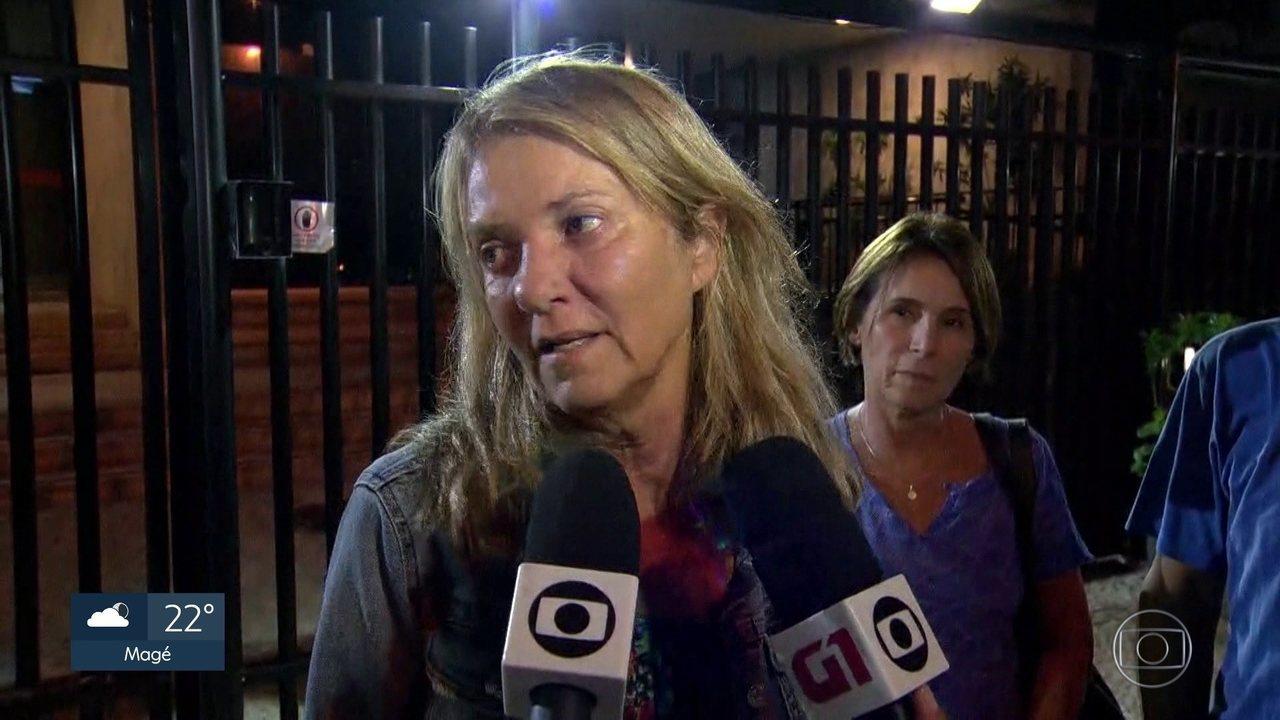 Priscilla Rozenbaum, viúva de Domingos Oliveira, diz que ele queria morrer em casa (Foto: Reprodução / Globo)