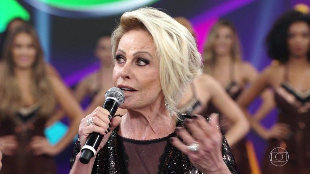Ana Maria Braga e Faustão (Foto: Reprodução/Globo)