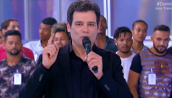 Celso Portiolli no Domingo Legal  (Foto: Reprodução/SBT)