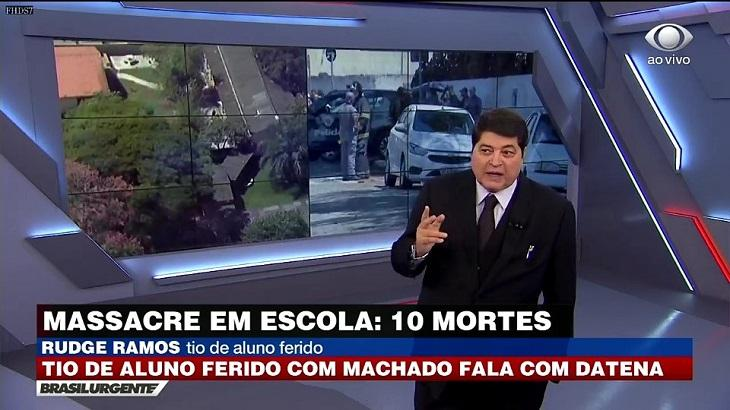 "Datena apresentou o ""Brasil Urgente"" nesta quarta"