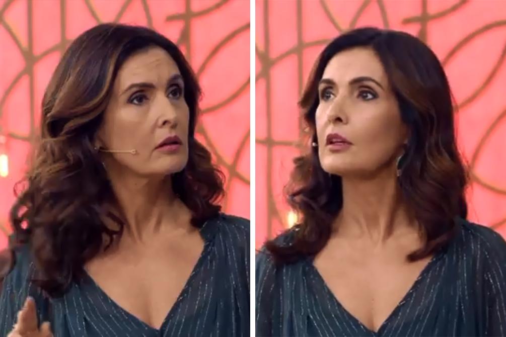 Fátima Bernardes aposta em look ousado na Globo (Foto: Divulgação)