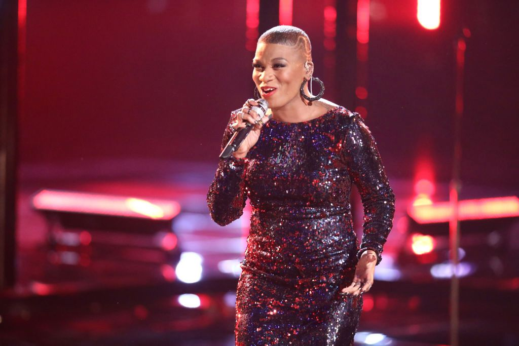 A cantora do The Voice, Janice Freeman (Foto: Tyler Golden/NBC/NBCU Photo Bank via Getty Images)