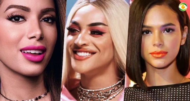 Anitta, Bruna Marquezine e Pabllo Vittar nos atritos