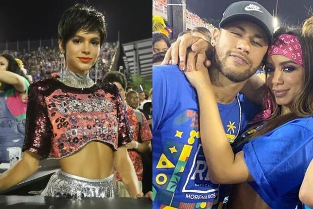 Bruna Marquezine, Neymar e Anitta (Foto: Reprodução)