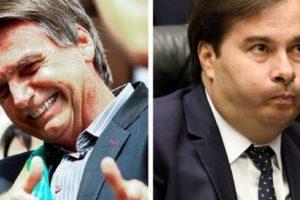 Jair Bolsonaro e Rodrigo Maia tiveram confronto e Globo se manifesta (Foto: Reprodução)