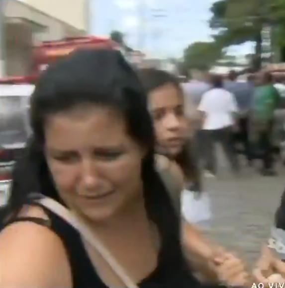 Mulher foi abordada pela repórter (Foto: Reprodução)