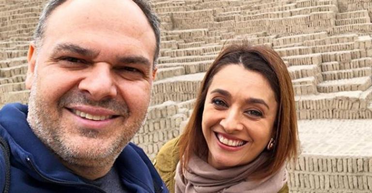 Catia Fonseca e o marido, Rodrigo Riccó (Foto: Reprodução)