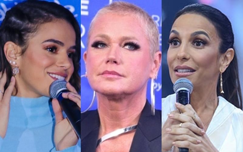 Xuxa, Ivete Sangalo e Bruna Marquezine (Foto: Reprodução)