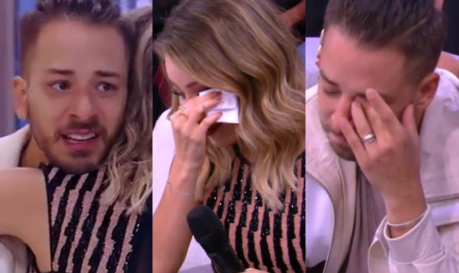 Sandy e Junior em prantos na Globo (Foto: Reprodução)