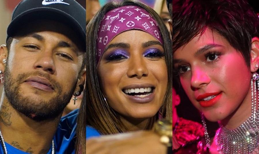 Neymar, Anitta e Bruna Marquezine (Foto: Reprodução)