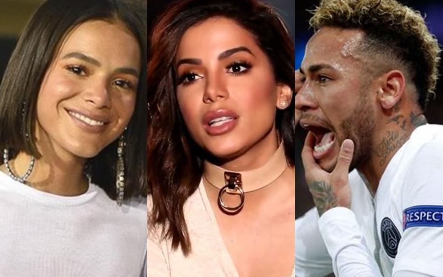 Bruna Marquezine, Anitta e Neymar (Foto: Reprodução)
